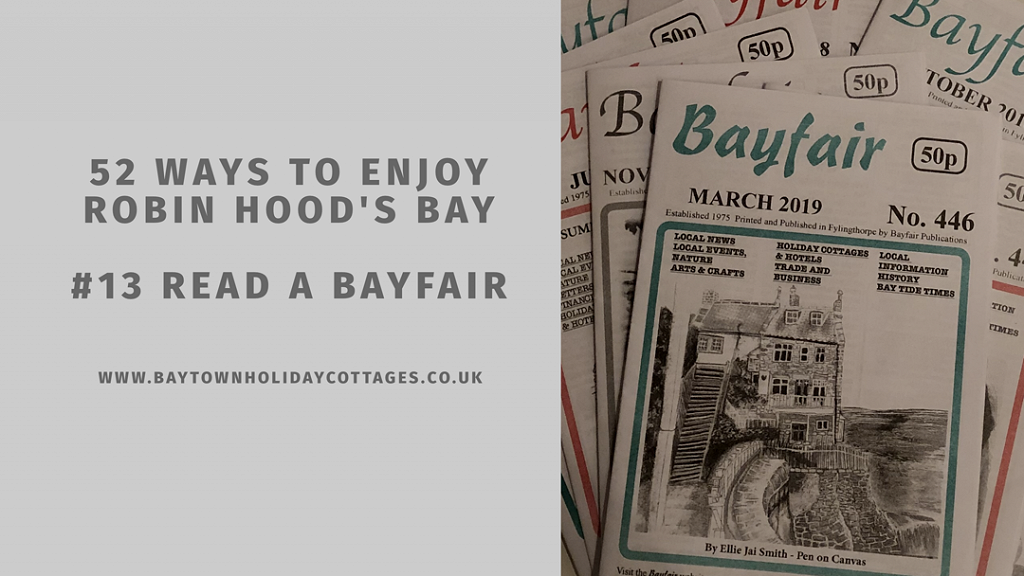 52 Ways To Enjoy Robin Hood's Bay: #13 Read A Bayfair